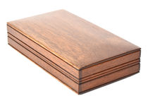 Mahogany Jumbo Lock Flap Card Box