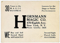 Hornmann Magic Co. Throw Out Card
