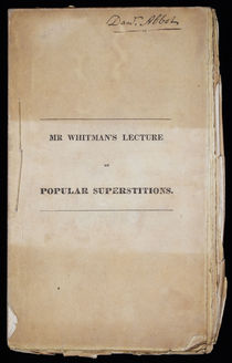 Mr. Whitman's Lecture on Popular Superstitions