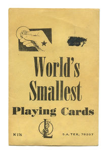 World's Smallest Playing Cards