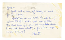 Postcard from Martin Gardner to Jay Marshall