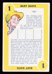 Bobby Benson's Game Circus Cards and Instructions