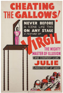 Virgil and Julie Cheating the Gallows Poster