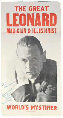 The Great Leonard Poster, Inscribed and Signed