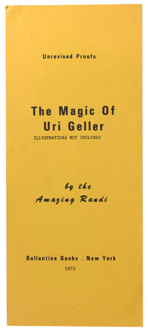The Magic of Uri Geller, Unrevised Proofs, Signed