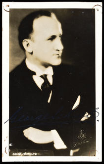 George Schulte Postcard, Signed Twice