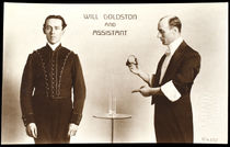 Will Goldston and Assistant Postcard