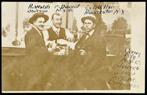 Russ Walsh, Frank Durcot and L. Butler Postcard