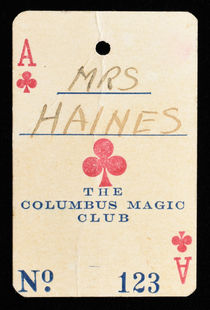 Mrs. Haines' Playing Card Banquet Ticket