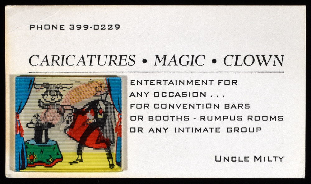 Lenticular business card uncle milty quicker than the eye lenticular business card uncle milty reheart Choice Image