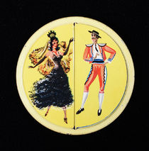 Spanish Dancers Souvenir Pocket Mirror