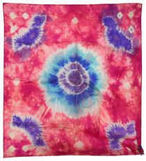 Two Small Tie-Dye Silks