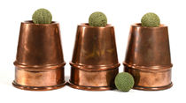 Large P and L Style Copper Cups