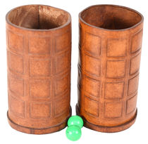 Leather Chop Cups
