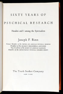 Sixty Years of Psychical Research