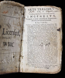 Arts Treasury; or, a Profitable and Pleasing Invitation to the Lovers of Ingenuity