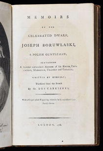 Memoirs of the Celebrated Dwarf, Joseph Boruwlaski