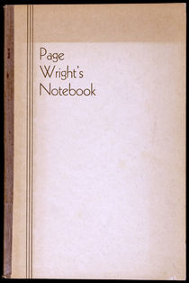 Page Wright's Notebook