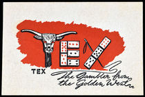 Tex the Gambler Business Card
