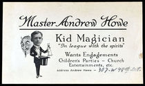 Master Andrew Howe Business Card