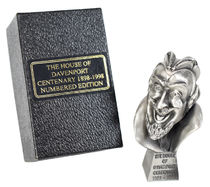 The House of Davenport Hand Crafted Pewter Demon Head Statuette
