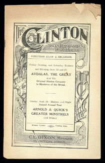 The Clinton Program for Arnold and Quick's Greater Minstrels