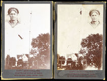 Two Cabinet Cards of Captain Leo Collins, Champion High Diver