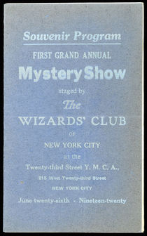 Souvenir Program: First Grand Annual Mystery Show