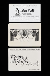 Three Magician's Business Cards