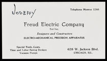Joseffy, Freud Electric Company Business Card