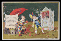 Puppetry Au Bon Marche Trade Card