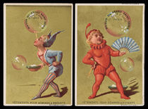 Pair of Trade Cards for Maison du Grand Saint Denis
