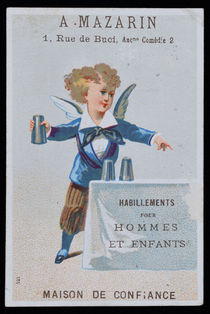 Angelic Cups and Balls Trade Card