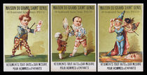 Three Maison Du Grand Saint Denis Trade Cards