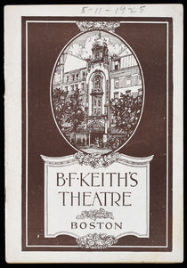 Houdini Program at B.F. Keith's Theatre
