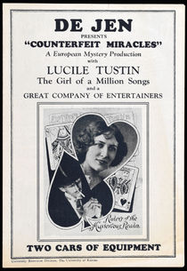 De Jen and Lucile Tustin Advert