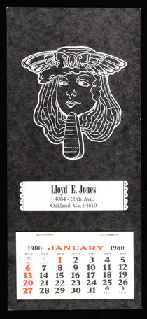 Lloyd E. Jones Calendar, 1980
