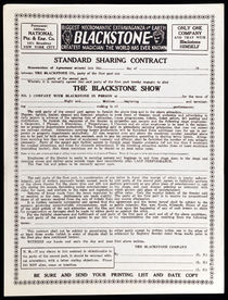 Standard Sharing Contract, The Blackstone Show
