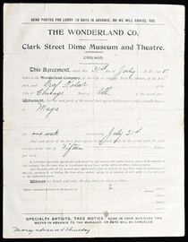 Joseph Kolar Contract, The Wonderland Co.