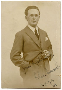 Real Photo Postcard of Charles Duval, Signed