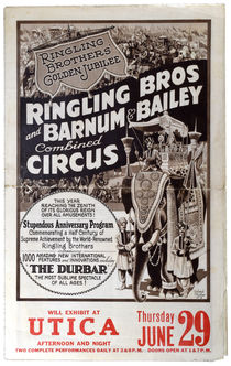 Ringling Bros and Barnum & Bailey Combined Circus Advert