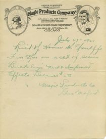 Letters from Gus Moford to Hermann Homar
