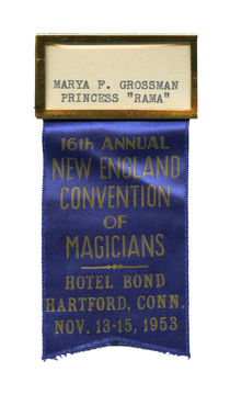 1953 New England Magicians Convention Badge