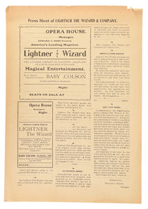 Press Sheet of Lightner the Wizard & Company