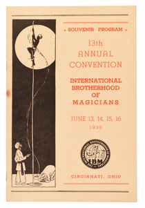 International Brotherhood of Magicians 13th Annual Convention Program