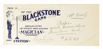 Blackstone Show Receipts