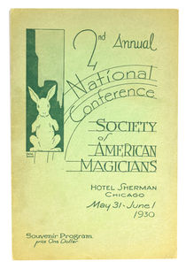 2nd Annual National Conference, Society of American Magicians Program