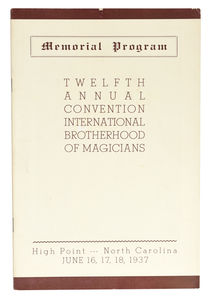 Twelfth Annual Convention, International Brotherhood of Magicians