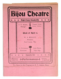Bijou Theatre Program: High Class Vaudeville