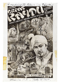 Photograph of Great Raydu Poster, Inscribed and Signed